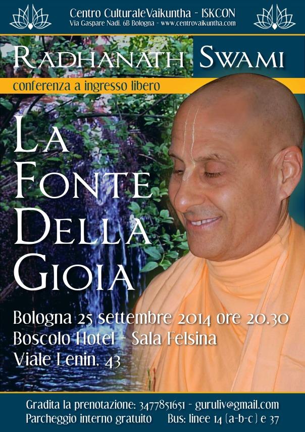 Radhanath Swami Bologna 25-9-14