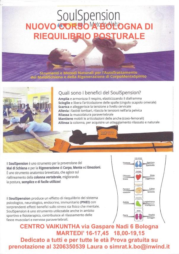 SoulSpension: Nuovo corso a Bologna di riequilibrio posturale. martedì dalle 16-17,45, 18-19,15