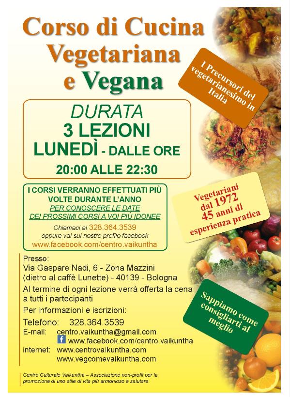 Corso di Cucina Vegetariana e Vegana primo livello