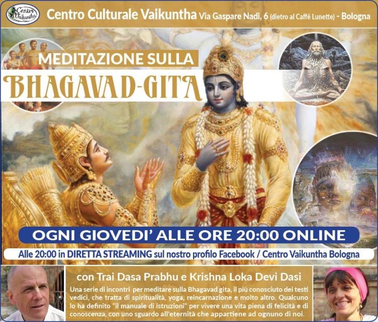 Meditazione sulla Bhagavad Gita, ogni giovedì alle ore 20:00 online